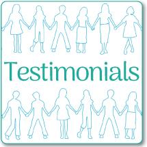 "speech therapy ""Testimonials"" link"
